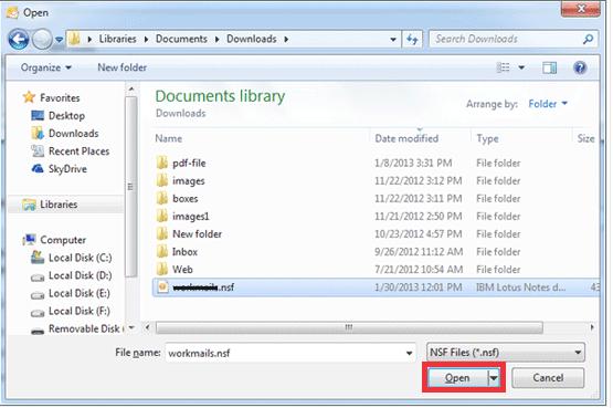 Select NSF File