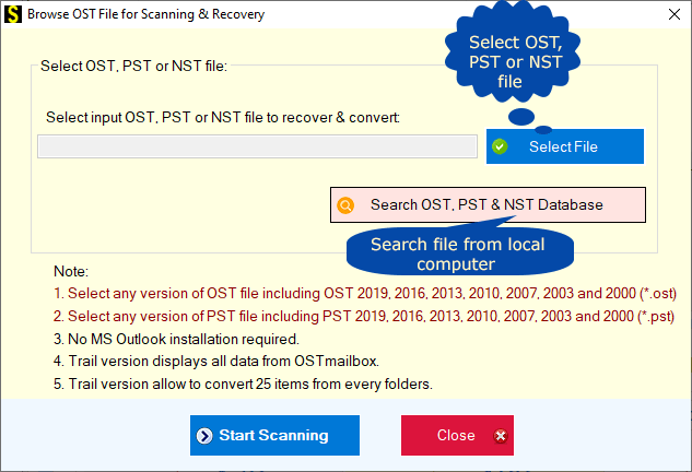 ost to pst converter technique
