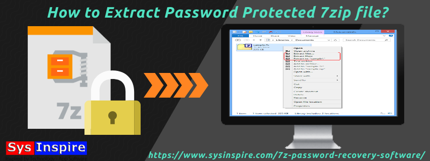 How to Extract Password Protected 7zip file