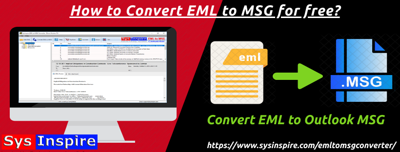 How to Convert EML to MSG for free