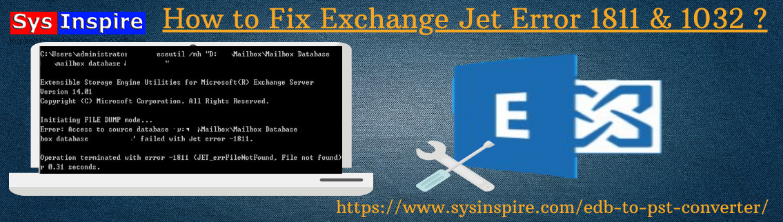 Fix Exchange Jet Error 1811 & 1032