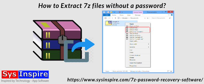 How to Extract 7z files without a password