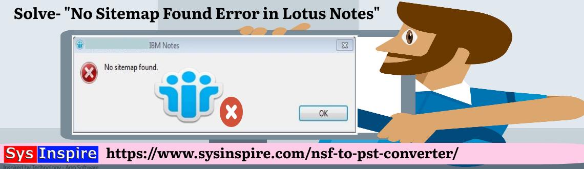 No Sitemap Found Error in Lotus Notes