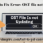 Outlook Error-OST File not Updating