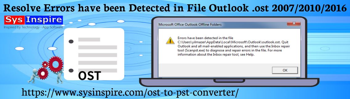 Resolve Errors have been Detected in File Outlook .ost