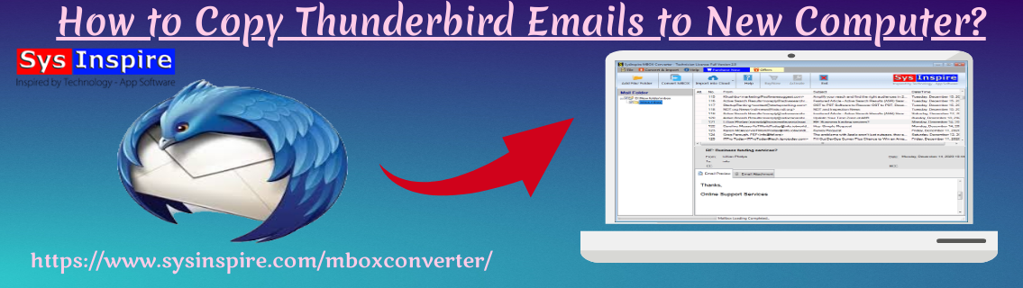 Copy Thunderbird Emails to New Computer