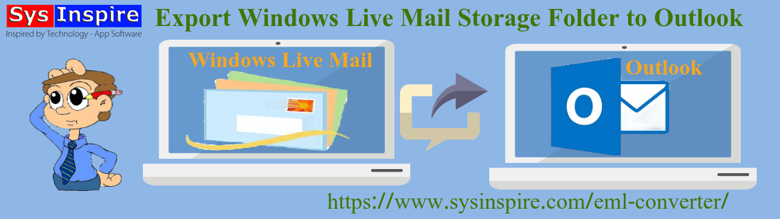 Export Windows Live Mail Storage Folder to Outlook