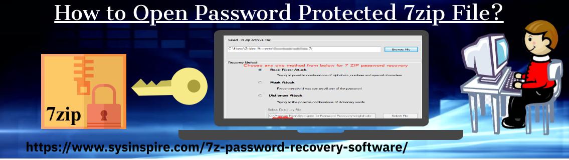 Open Password Protected 7zip File