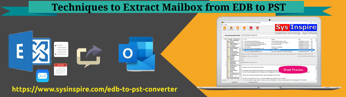 Extract Mailbox from EDB to PST