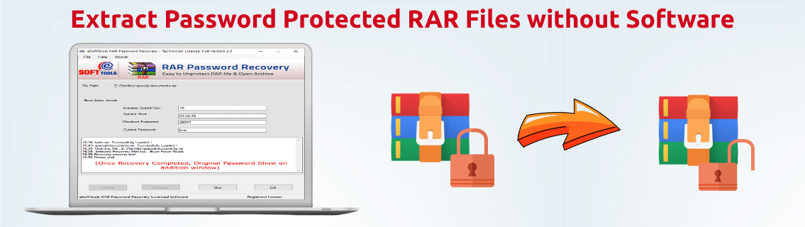Extract Password Protected RAR Files without Software