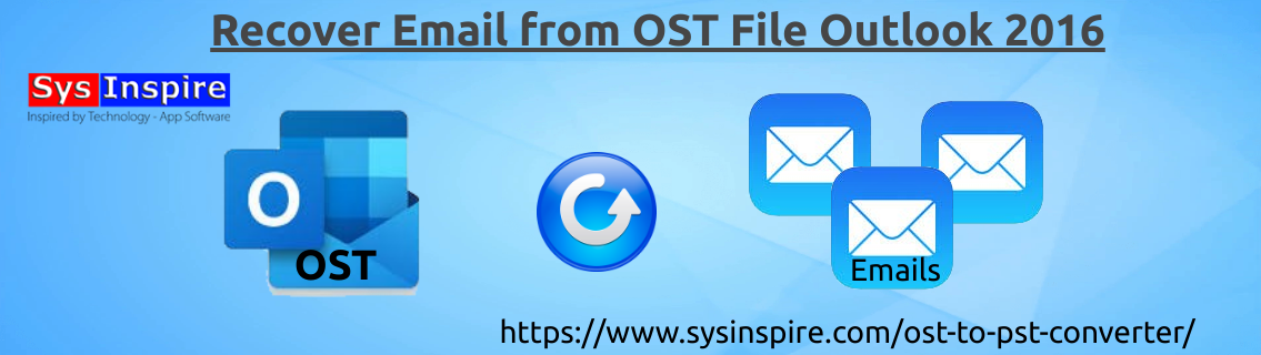 Recover Email from OST File Outlook 2016