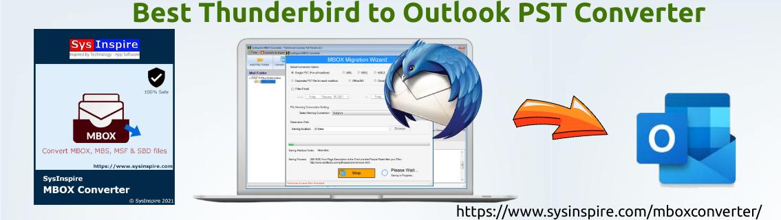 Best Thunderbird to Outlook PST Converter