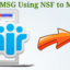 Convert NSF to MSG Using NSF to MSG Converter