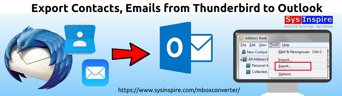 Export Contacts, Emails from Thunderbird to Outlook