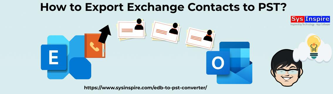 Export Exchange Contacts to PST