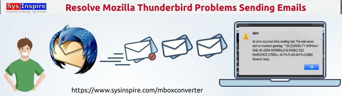 Mozilla Thunderbird Problems Sending Emails