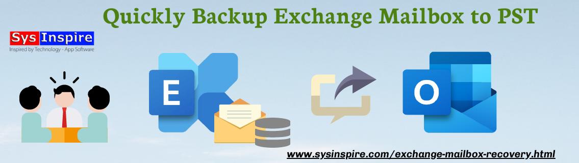 backup exchange mailbox to pst