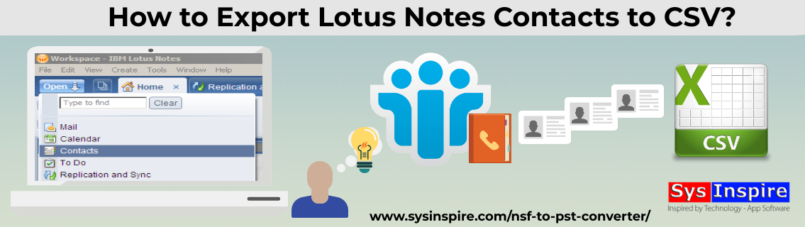 Export Lotus Notes Contacts to CSV