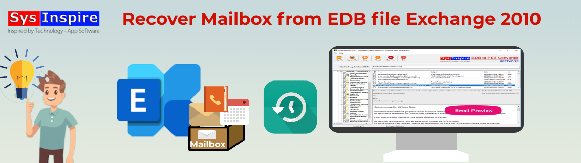 Recover Mailbox from EDB file Exchange 2010