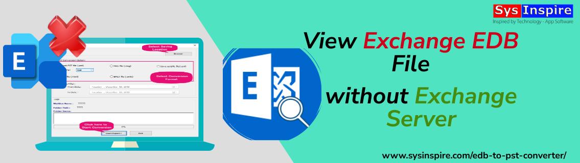 View Exchange EDB file