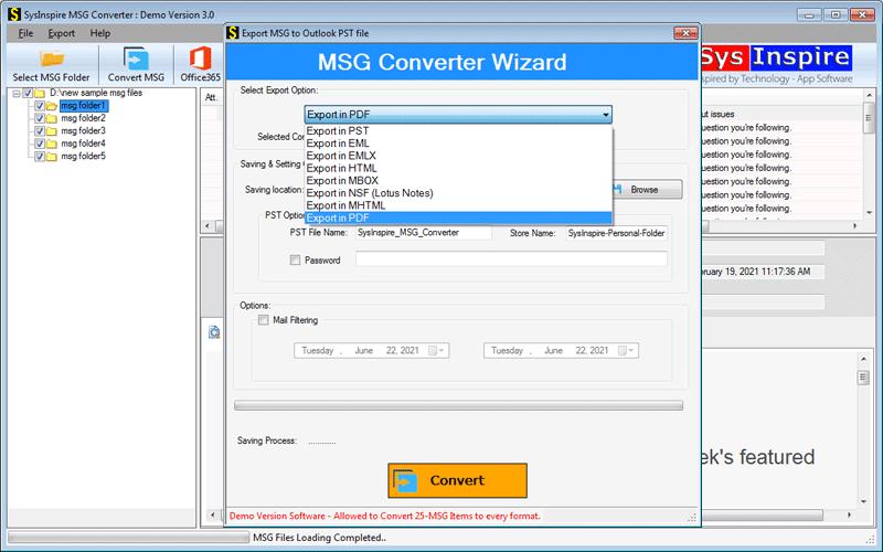 Convert MSG file