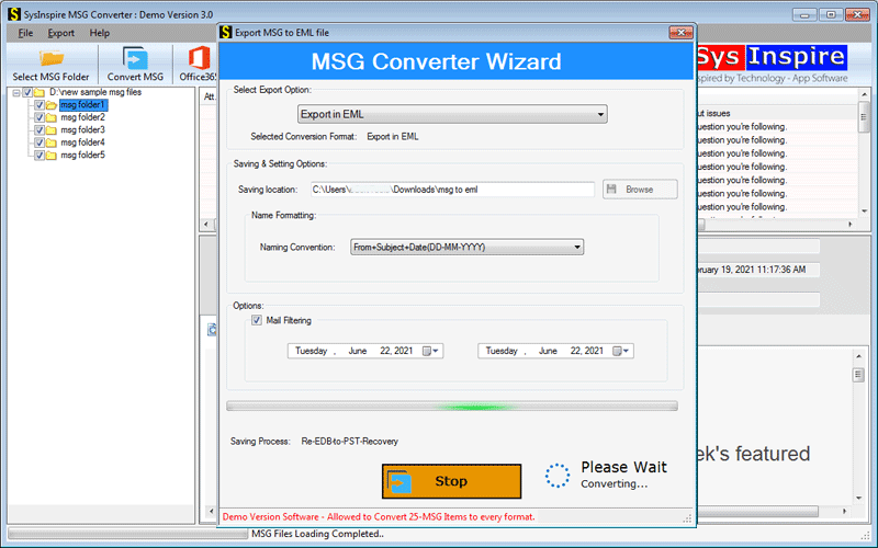 convert MSG to PST with attachments