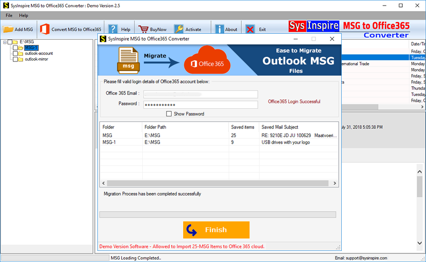 export msg to office365