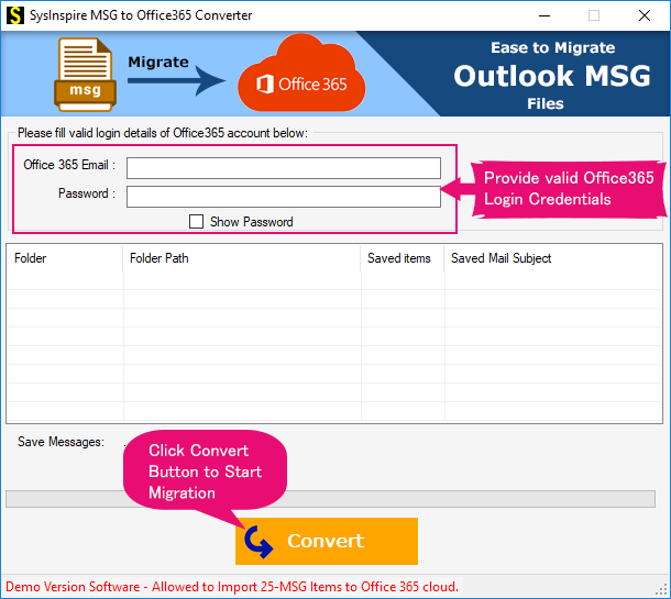 migrate msg to office365 cloud