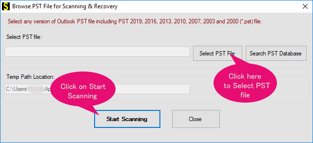 recover pst emails