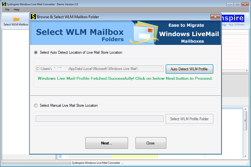 Convert Live Mail emails